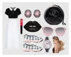 """""""Sweet Dark Dior"""" by cynthianavarro-1 on Polyvore featuring moda, Christian Dior, ESCADA, Chanel, Lime Crime y Olivia Burton"""