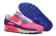 Chaussure Baskets Nike Air Max 90 Hyperfuse Femme Rose royal Bleu Beige Pourpre A4x2V9 1