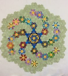 December 12, 2013  BONUS BLOG  Robin's Hexicane Quilt!   uses Pieced Hexies by Mickey Depre