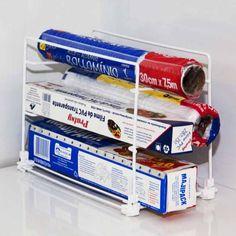 Suporte para Rolo de Papel Aluminio e Plastico Filme Supermercado Digital