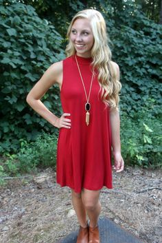 Red Tee Dress  Use code ShelbyS10 for 10% off your entire order!!