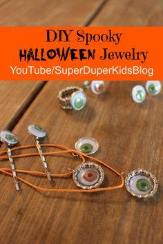 DIY Halloween Jewelry - How to make Halloween jewelry, easy fun kid craft!!!
