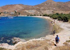 Getting down to the beach of Ganema Serifos island