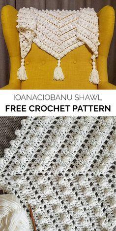 IoanaCiobanu Shawl Free Crochet Pattern #crochet #crafts #shawl #fashion #style #ideas
