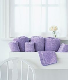 window box for towel storage