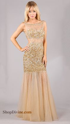 Jovani Prom #dress #gold #dresses | Fashion | Pinterest | Sequin ...