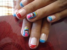 decoración virgen d guadalupe Make Up, Nail Art, Nails, Beauty, Holographic Nails, Molde, Short Poems For Kids, Little Girl Nails, Nail Decorations