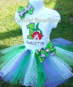 Little Mermaid Ariel birthday tutu little girls by TutifulBowtique