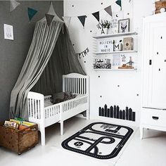 Who said @numero74_official canopies were just for girls? Loving this boy's room by @baravickan featuring our grey/silver @numero74_official canopy! Last one left in stock! ♡