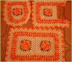 Resultado de imagem para tapetes em croche para cozinha com barroco
