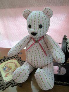 Romantic Fabric Teddy Bear from Simplicity 5461
