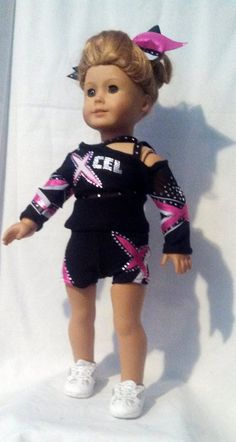 X Cel Cheer  American Girl Cheer Uniform by AnniquesNook on Etsy, $135.00