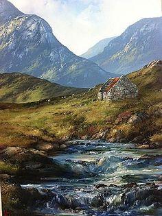 Eilleen Meagher: Famine Cottage, Connemara Printable Labels, Printables, Irish Art, Connemara, Belfast, Contemporary Paintings, Dublin, Celtic, Ireland