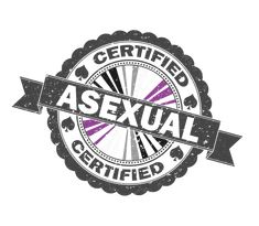 """Asexual pride certified stamp for light merchandise. Dark grey frame with Asexy pride flag colored star burst behind a dark grey banner. Ace symbol embellishments with """"Certified"""" text. Zazzle - ww..."""