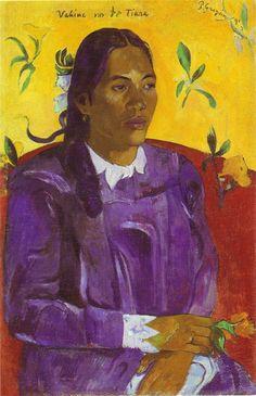 Paul Gauguin, Vahine no te tiare, olio su tela, 1891, Ny Carsberg, Copenaghen