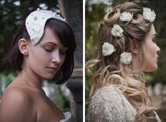 artistic+wedding+veils   HT Headwear birdcage veil & silk flowers