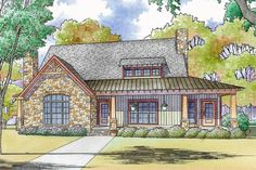 Rustic Country House Plan With Vaulted Master Suite - 70573MK   Architectural Designs - House Plans