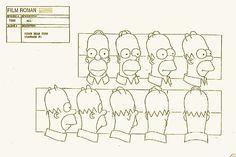 Homer Simpson model sheet.