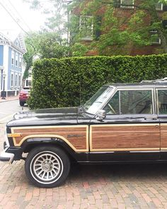 // Love this old wood paneled jeep. <3 Spotted on Nantucket.