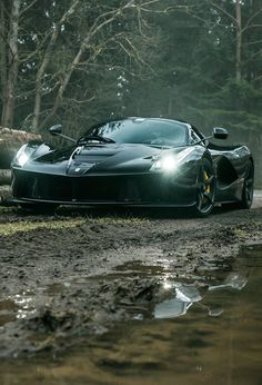 Ferrari Laferrari in the mud