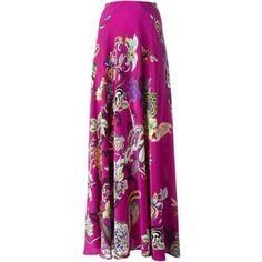Etro floral print maxi skirt