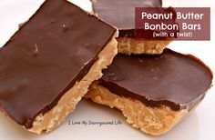 You'll be surprised at what is in these Peanut Butter Bonbon Bars from I Love My Disorganized Life