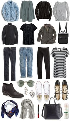 A Travel Capsule Wardrobe: Your Ultimate Packing List - Your ultimate packing list for traveling light to Europe in the Spring? Create a travel capsule wardrobe. Click through to read! Source by Kinalinas - Ultimate Packing List, Packing List For Travel, Packing Lists, Europe Packing, Packing Ideas, Packing Outfits For Travel, Vacation Packing, Winter Travel Packing, Travel Europe