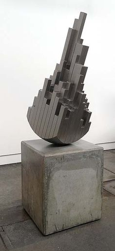 Dan Lorrimer  Point of Contact II 2014  polyurethane on stainless steel - concrete base 180 x 60 x 60cm