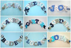 Fabric name banner,personalized name,name banner,Name Wall Art,nursery room decoration,Baby shower gift,ornaments for free,free shipping Nursery Banner, Nursery Letters, Nautical Nursery, Nursery Room Decor, Nursery Wall Art, Fabric Letters, Fabric Bunting, Fabric Names, Wall Fabric