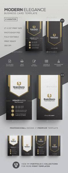 767 best design business cards images on pinterest creative modern elegant business card template accmission Gallery