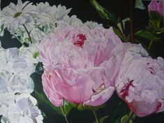After the Rain - Oil on linen x Available September 2018 at Parnell Gallery Flower Show Flower Show, September, Rain, Gallery, Floral, Artist, Flowers, Painting, Rain Fall
