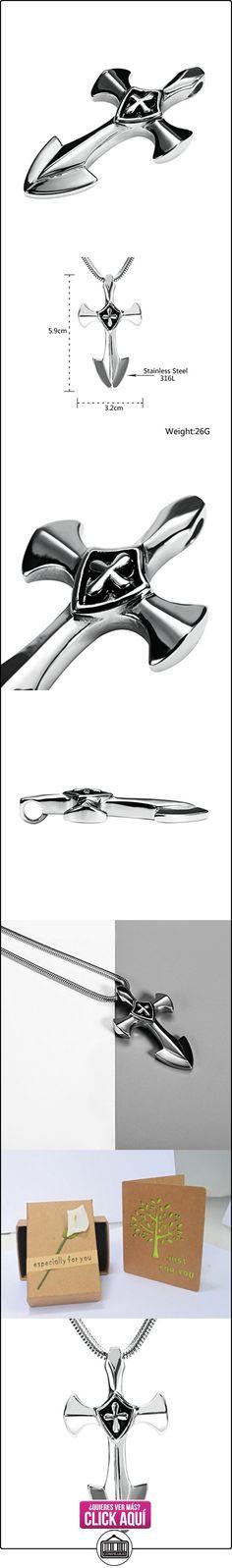 Daesar Joyería Collares de Hombre Acero Inoxidable Espada Cruz Colgantes Vintage Plata Colgantes Vintage 3.2X5.9cm  ✿ Joyas para niños - Regalos ✿ ▬► Ver oferta: https://comprar.io/goto/B01MXMJG3E