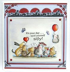 What a lovely scene with Penny Black stamps (Kerttulin Paja). Penny Black Karten, Penny Black Cards, Penny Black Stamps, Handmade Birthday Cards, Greeting Cards Handmade, Print Thank You Cards, Karten Diy, Paper Smooches, Cat Cards
