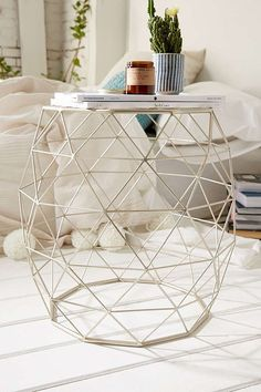 Urban Outfitters Geometric Metal Side Table