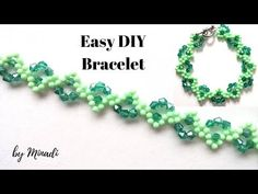 Bracelet tutorial. Easy beading pattern - YouTube