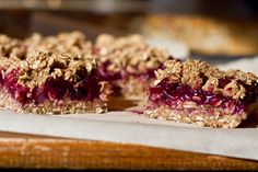Berry Bliss Oat Squares  Vegan, soy-free, refined-sugar free, no added fat, and can be made gluten-free if you use GF oats.