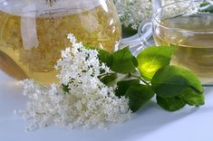 Elderflower Tea - has been linked to reducing blood glucose levels like insulin Just Serve, Elderflower, Healing Herbs, Eat Smarter, Fresh Flowers, Korn, Feta, Brewing, Health Fitness