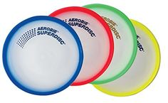 Aerobie Superdisc - Single Unit (Colors May Vary): Unique design features a comfortable gripping surface for accurate throws and a soft outer rim for confident catches. The patented spoiler rim helps stabilize the flight Sports Games For Kids, Floating In Water, Deal Today, Games To Play, The Unit, Entertaining, Learning, Colors, Confident
