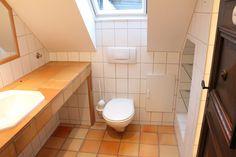 BEFORE: Last bathroom update had been done in 1980s, Toilet, Bathroom, House, Washroom, Flush Toilet, Home, Full Bath, Toilets