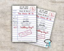 Listing Is For One 5 X 7 Blank Printable Library Card Invitation