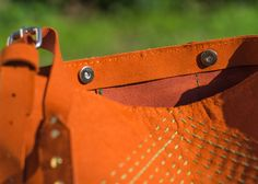 Copper and green hand embroidered leather purse Leather Craft, Leather Purses, Copper, Tote Bag, Green, Bags, Handbags, Leather Crafts, Leather Handbags