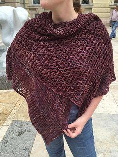 Vela Wrap - DK by Monika Sirna, knitted by deidre12345 | malabrigo Silky Merino in Redwood Bark