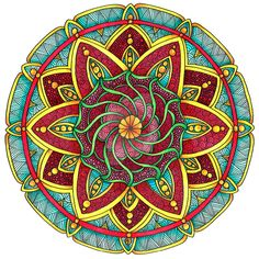 Coloured Version of Mandala 1 July 2014 by Artwyrd on DeviantArt
