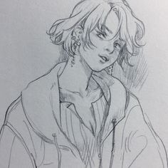 Feelings can creep up unexpectedly Art Drawings Sketches, Cute Drawings, Pretty Art, Cute Art, Art Inspo, Art Du Croquis, Bel Art, Art Reference, Drawing Reference Poses