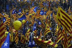 Protest Rally in Catalonia Adds a Worry for Spain Ny Times, Rally, No Worries, Spanish, History, Catalan Independence, Prime Minister, Flags, Revolution