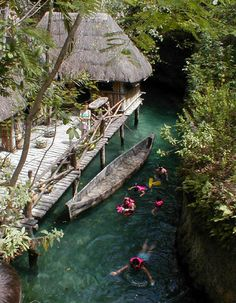 The underground rivers at Xcaret in the Mayan Riviera in Mexico  Caribbean Cruise