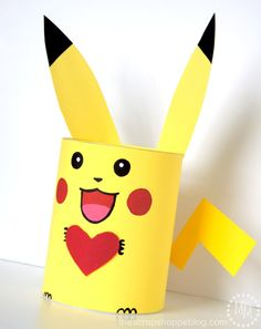 This DIY Pikachu Valentine box is perfect for your Pokémon-loving kid and their school Valentine's Day party! Pokemon Valentines Box, Cute Valentines Card, Valentine Day Boxes, Valentines For Kids, Valentine Day Crafts, Valentine Ideas, Printable Valentine, Homemade Valentines, Valentine Wreath