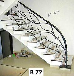 balustrada_model_iarna Steel Railing Design, Staircase Railing Design, Interior Railings, Minimalist House Design, Minimalist Home, Balcony Grill Design, Metal Tree Wall Art, Iron Decor, Design Case