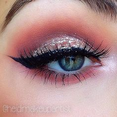 Pink glitter #eyes #eye #makeup #eyeshadow #dramatic