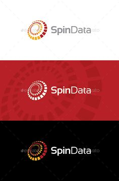 Spin Data Logo — Vector EPS #solutions #cloud • Available here → https://graphicriver.net/item/spin-data-logo/8805073?ref=pxcr